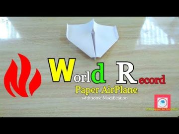 World record paper airplane with Unique Modification