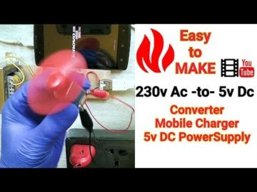 How to convert 230V AC to 5V DC | Hindi | Mobile Charger