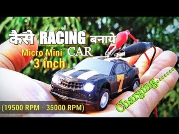 Micro Mini #DC #Motor #racing car | Super Fast