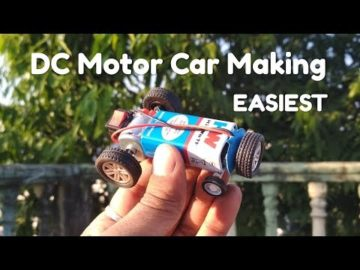 DIY #Easiest Battery Car with #9Voltbattery #Dcmotor
