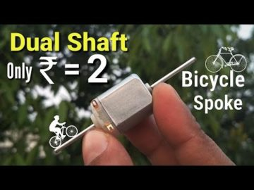how to make Dual or Double Shaft DC Motor | Bicycle Spoke