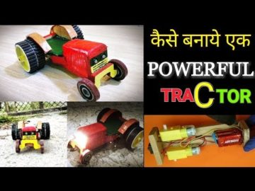How to make a #Powerful #Tractor || with #LED head lights Hindi